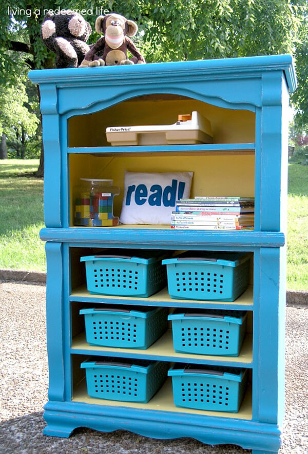 Repurpose Old Bookcase Shelving 12