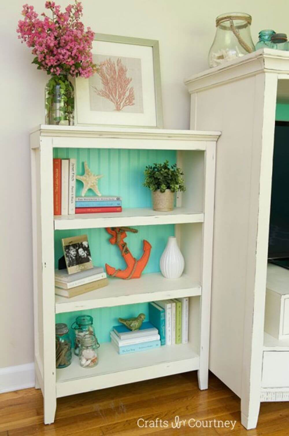 Repurpose Old Bookcase Shelving 14