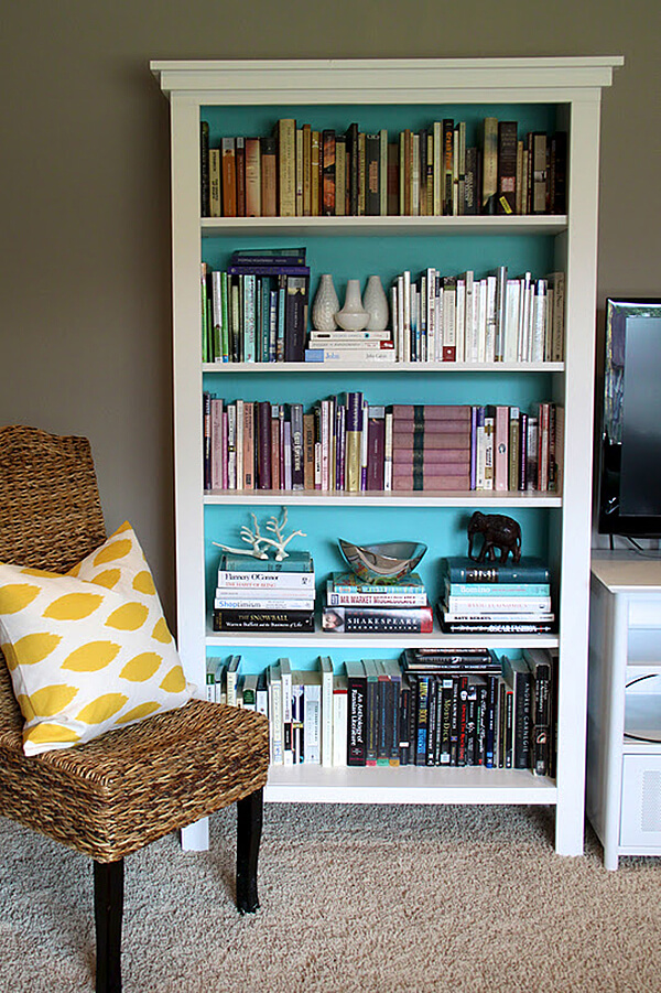 Repurpose Old Bookcase Shelving 7