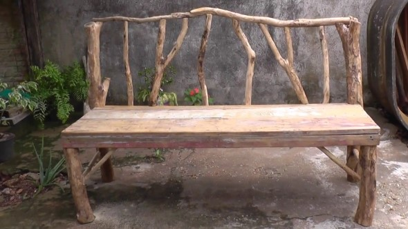 beautiful handcrafted outdoor bench designs 4