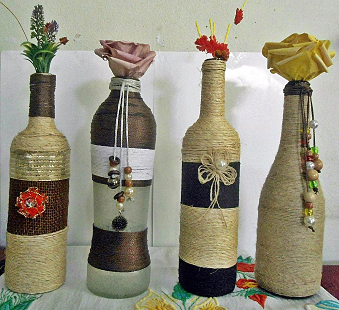 bottle ideas with yarn 10