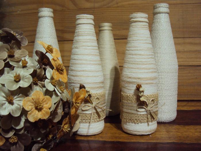bottle ideas with yarn 2