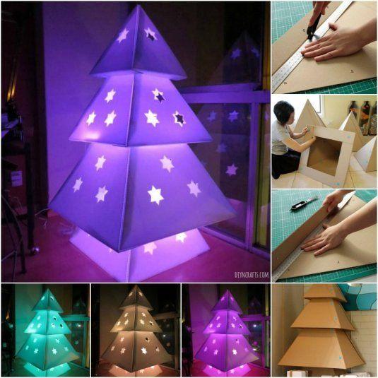 cardboard christmas tree 1