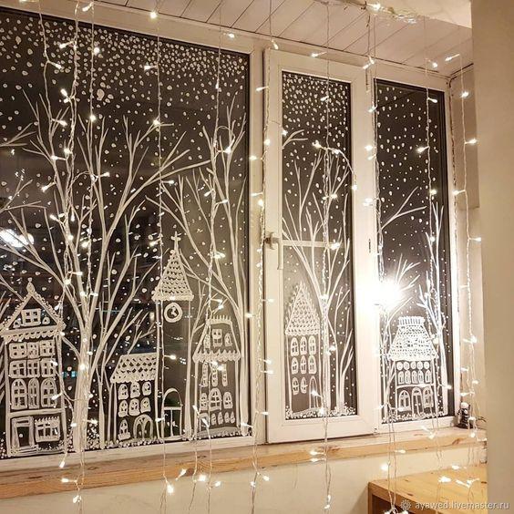 christmas window decoration 3