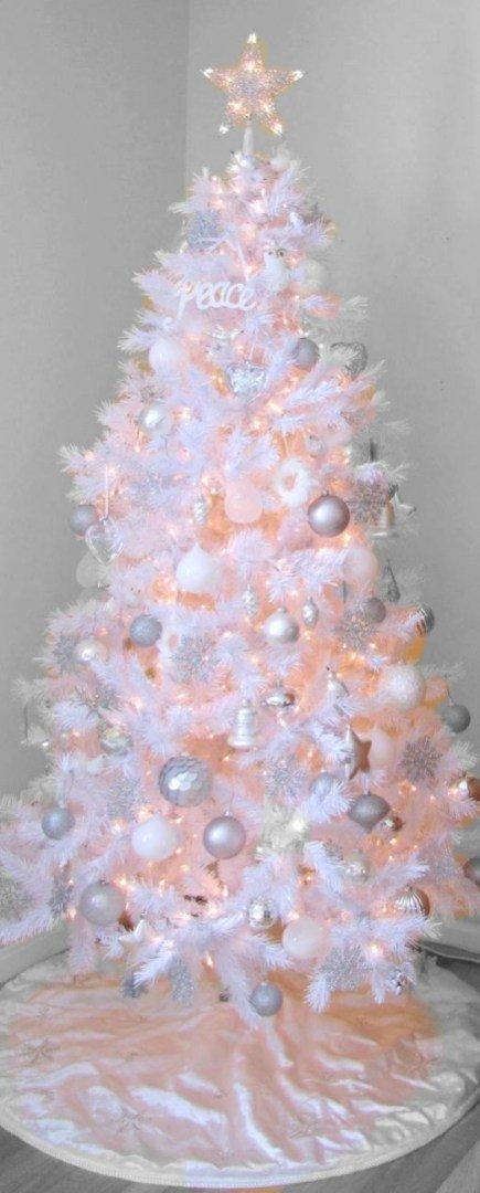 decorate white christmas trees 1