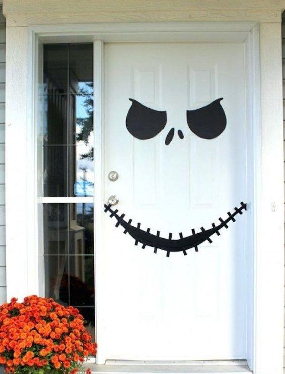 decorated halloween doors diy 2