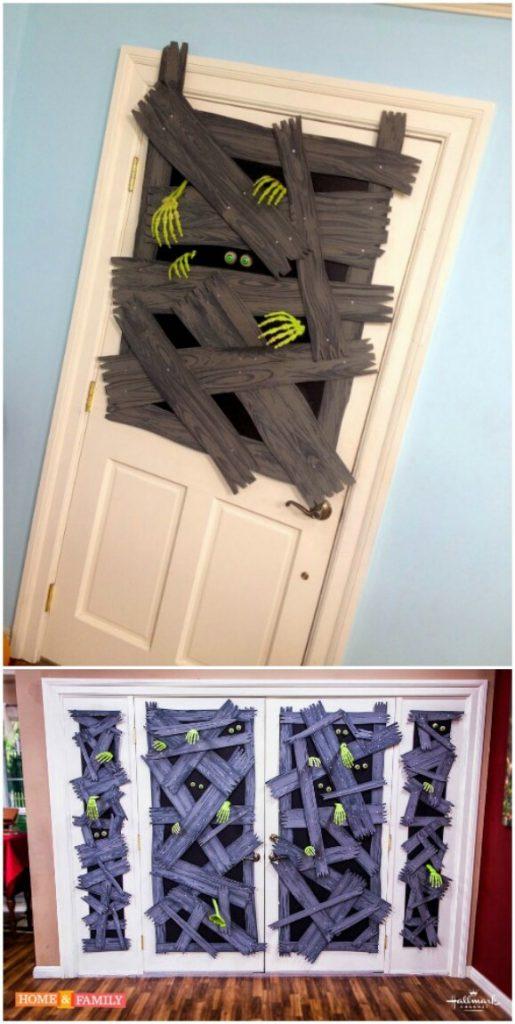decorated halloween doors diy 3