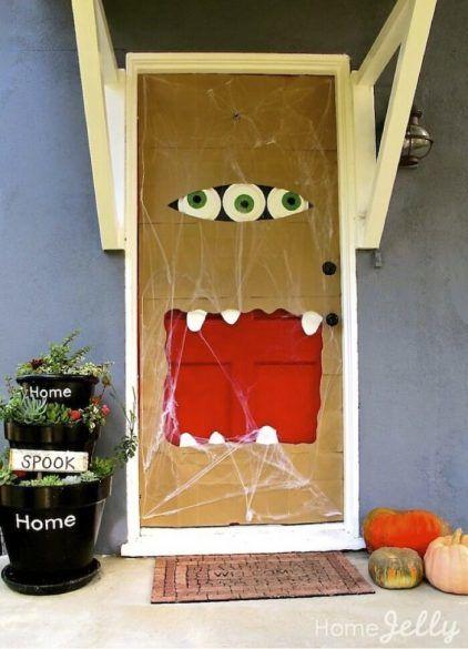 decorated halloween doors diy 4