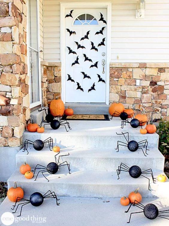 decorated halloween doors diy 6