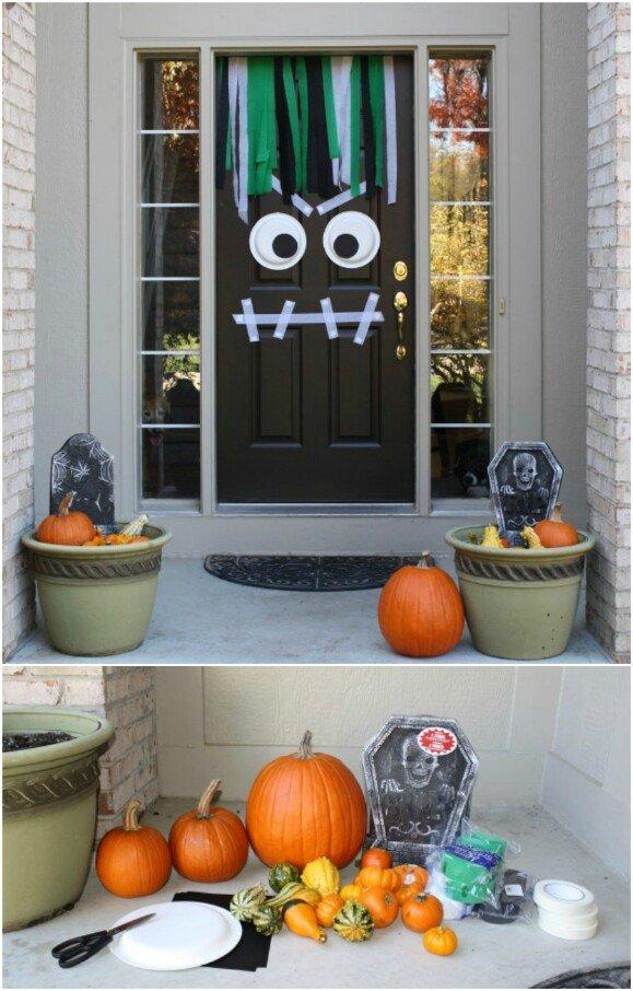decorated halloween doors diy 7