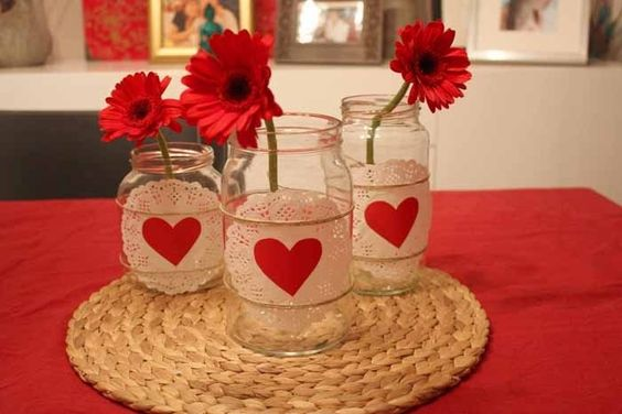 decorated pots for valentines day 14