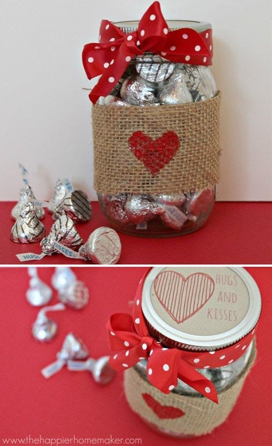 decorated pots for valentines day 2
