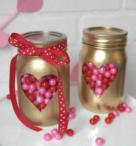 decorated pots for valentines day