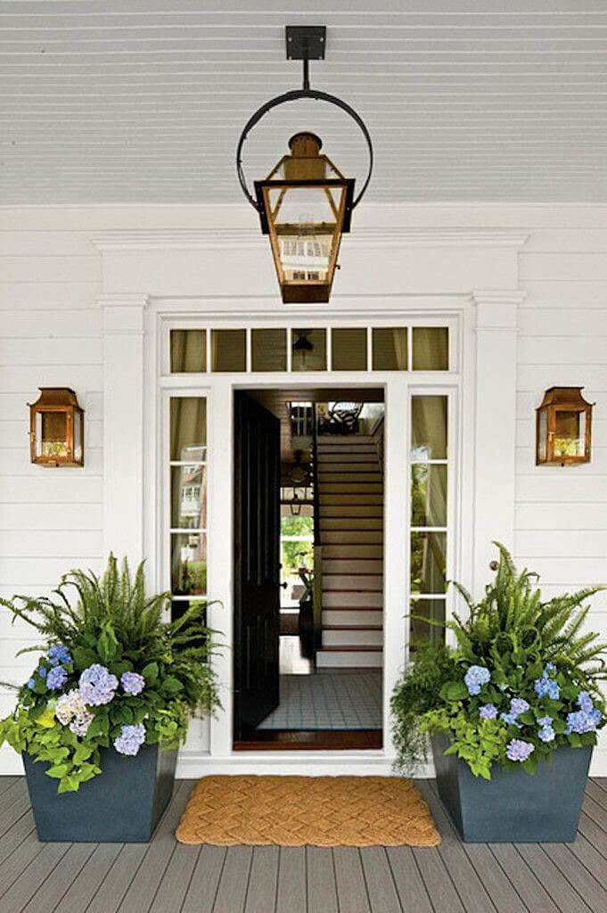 decorating front door with plants flowers 8