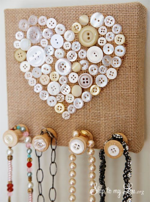 decoration with buttons 8