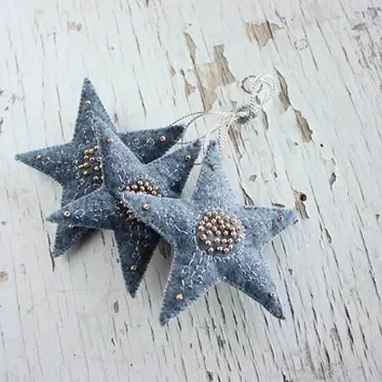 denim christmas decorations 1