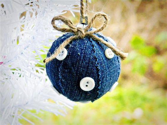 denim christmas decorations 10