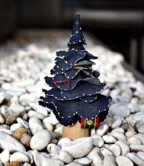 denim christmas decorations 12