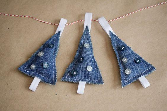 denim christmas decorations 14