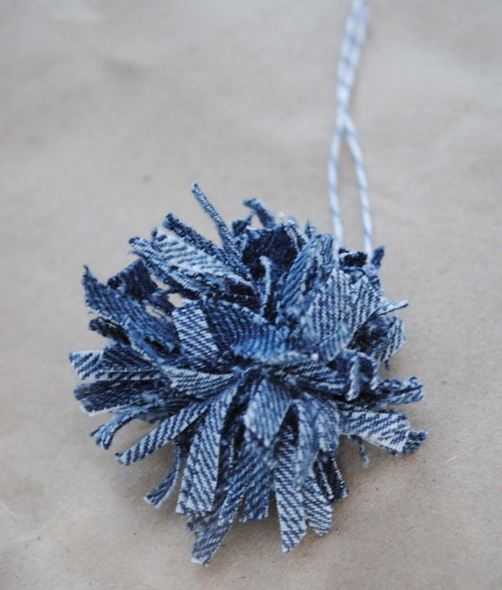denim christmas decorations 15