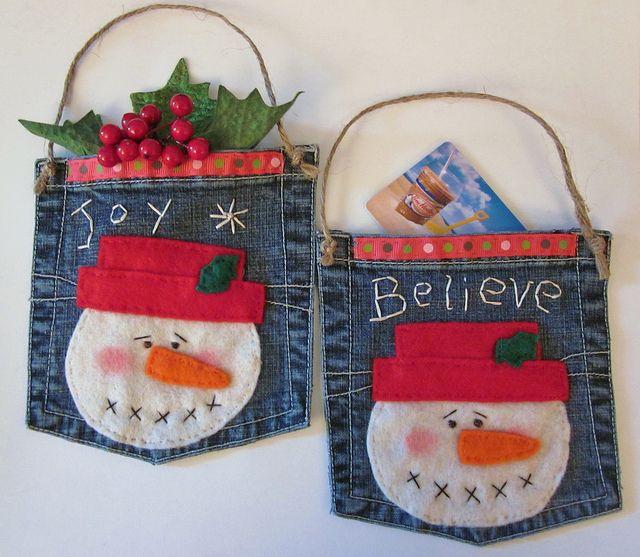 denim christmas decorations 16