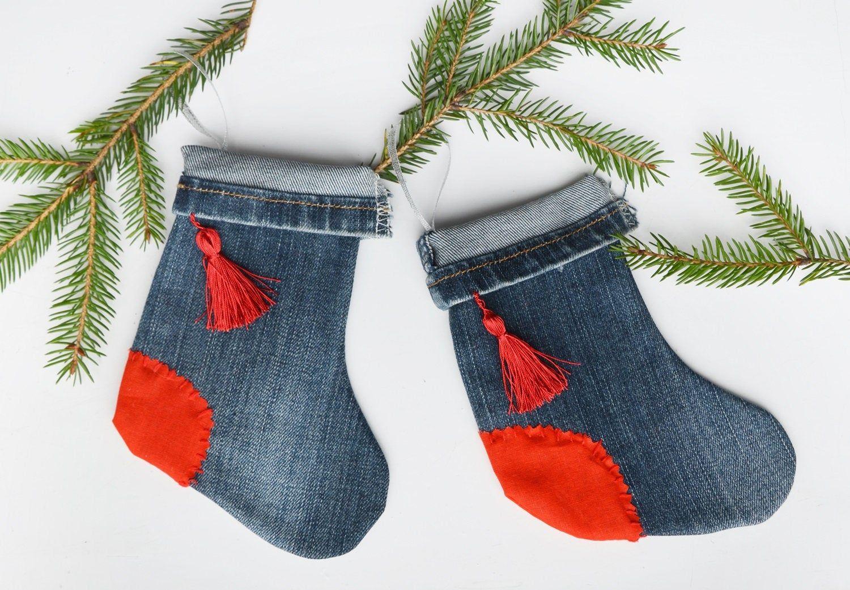 denim christmas decorations 4