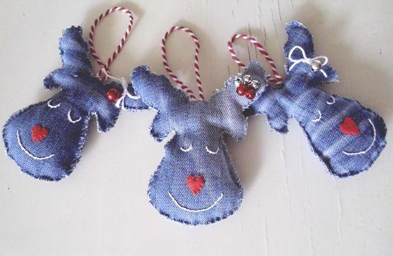denim christmas decorations 5