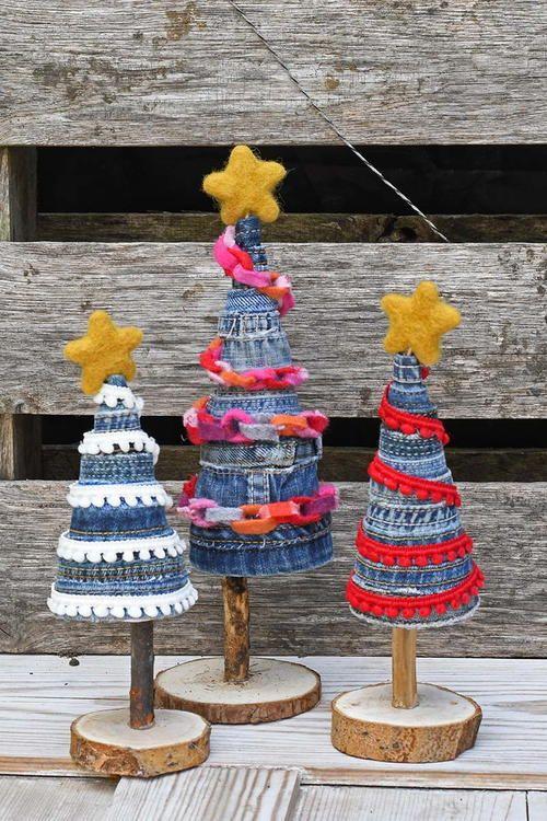 denim christmas decorations 8