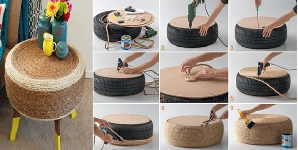 diy tables tires