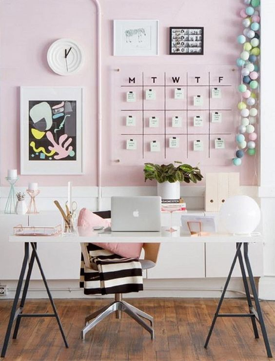 how decorate office