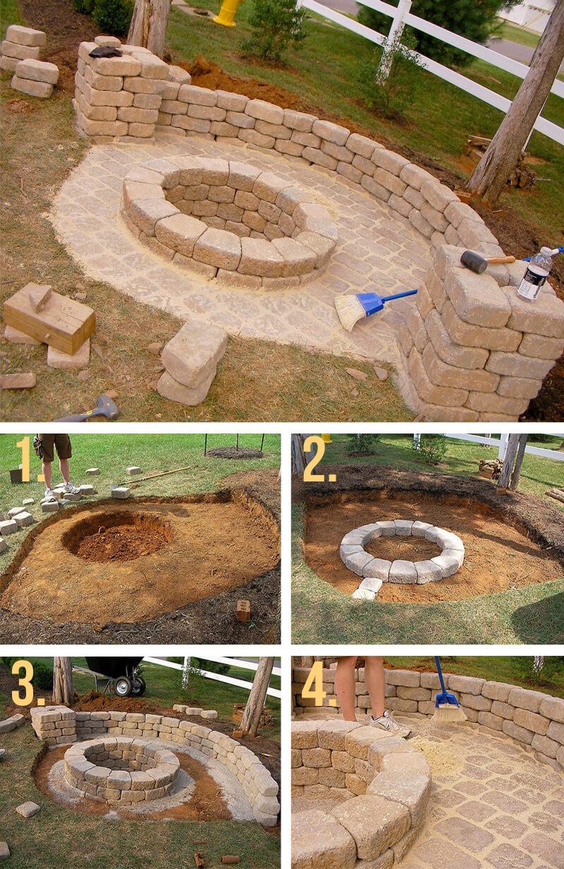 how to make fireplaces outdoors