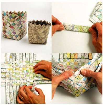 how to make paper basket 1