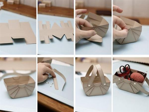 how to make paper basket 10