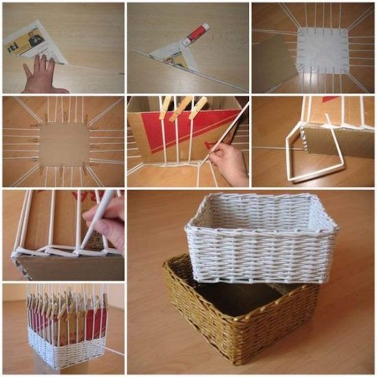 how to make paper basket 2