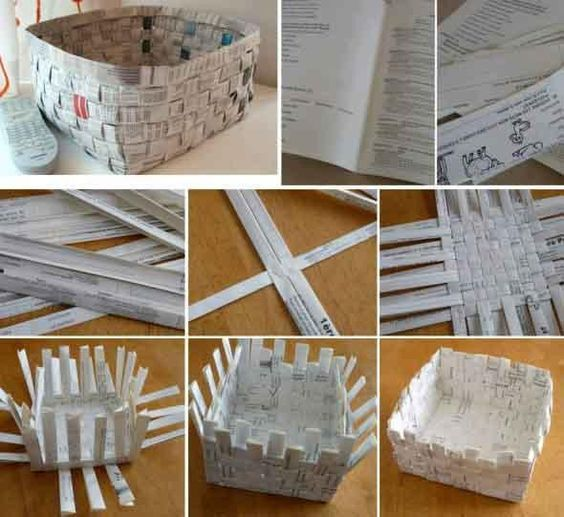 how to make paper basket 3