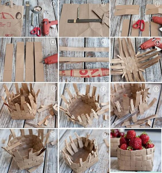 how to make paper basket 4