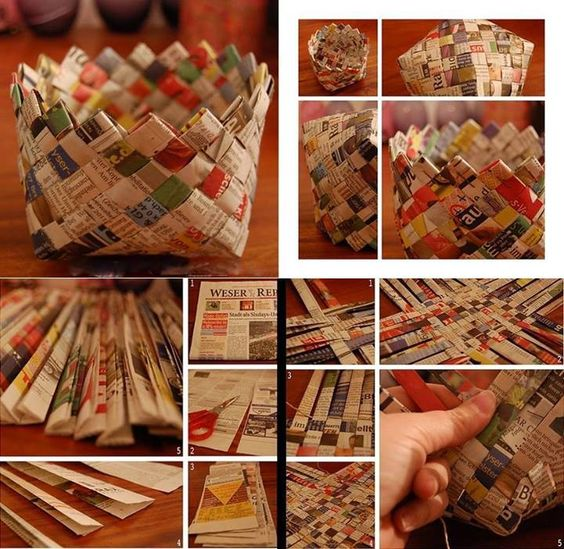 how to make paper basket 6