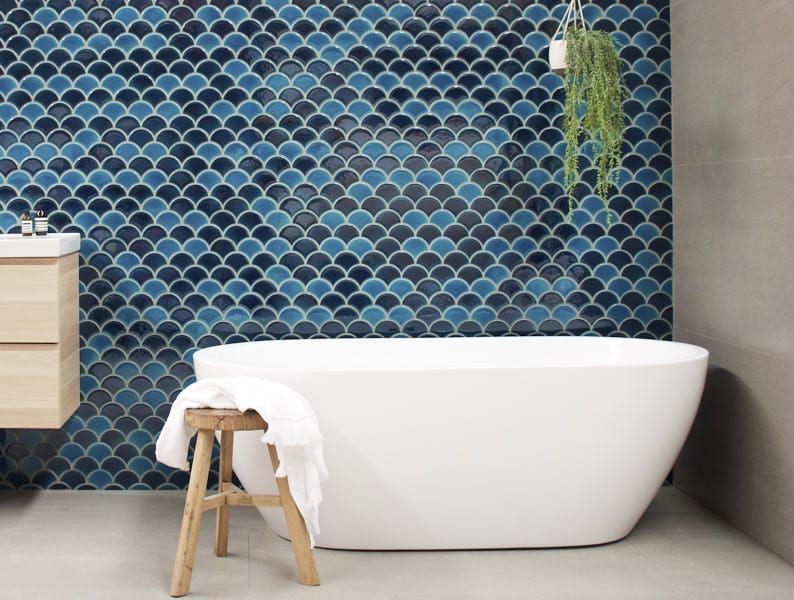 moroccan fish scale tiles decoration 9