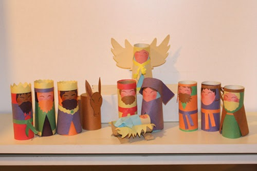 nativity scene made with recycled materials 6