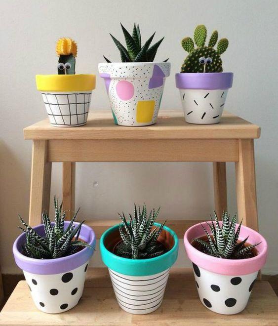 painted terracotta pots 8