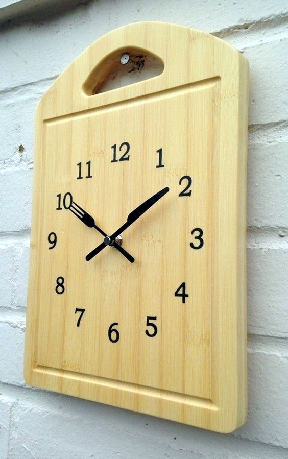 recycled material clock ideas 2