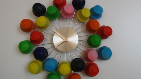 recycled material clock ideas 3