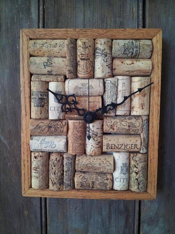 recycled material clock ideas 4