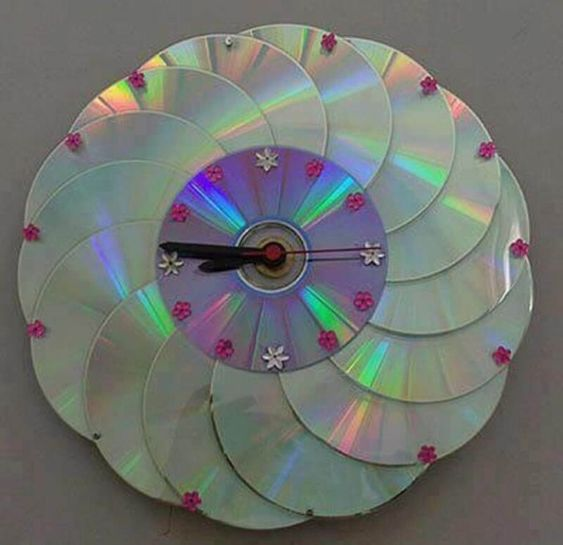 recycled material clock ideas 7