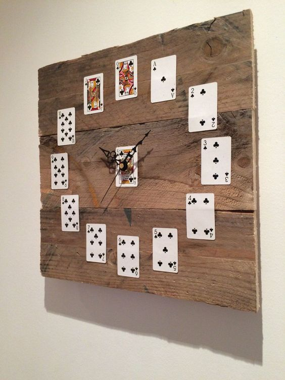 recycled material clock ideas