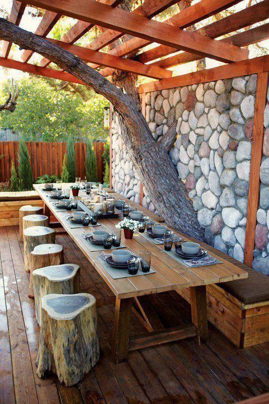 rustic outdoor decorating ideas